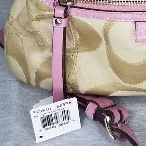 Pink and khaki Coach purse